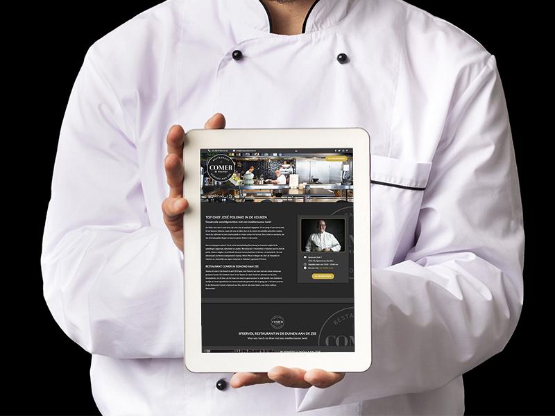 Nieuwe website Restaurant Comer